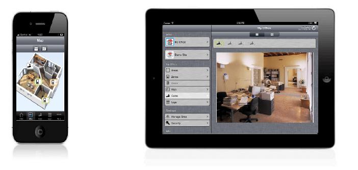 SPCanywhere Εφαρμογή για iOS 5 για τους πίνακες Siemens SPC